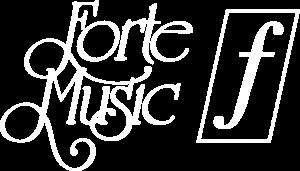 Forte Music White Logo