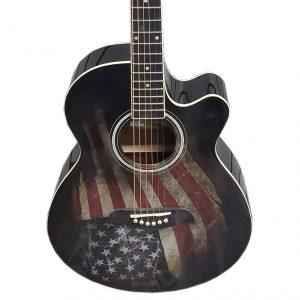 Oscar Schmidt OG10CEFLAG Guitar